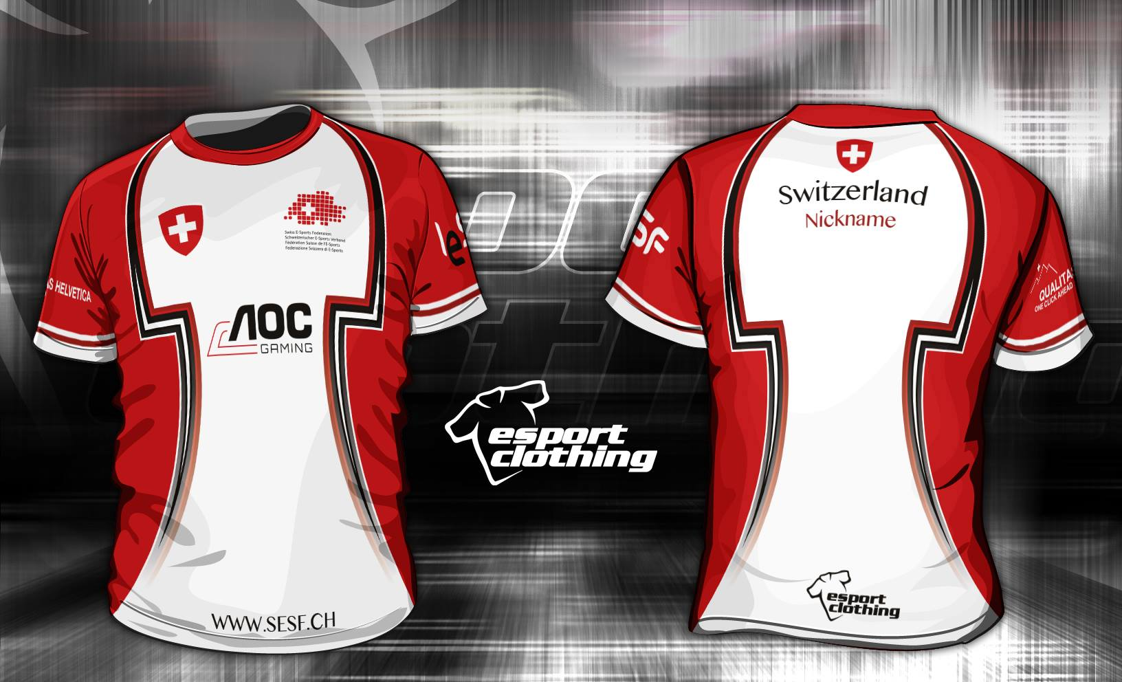 Swiss E-Sports Federation - Athlete Short Sleeve Jersey