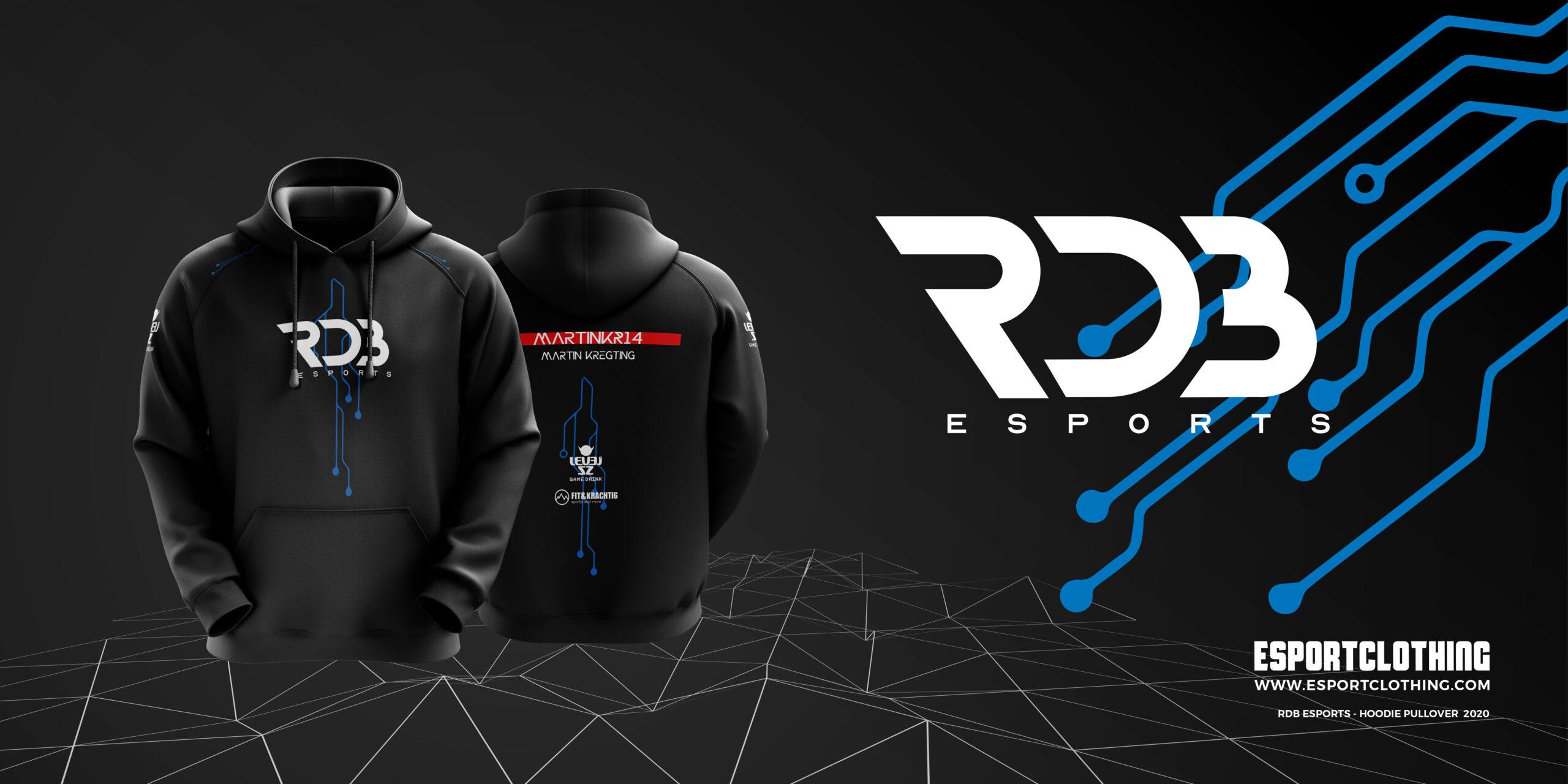 Athlete Gaming Hoodie Pullover 3D RDB Esports