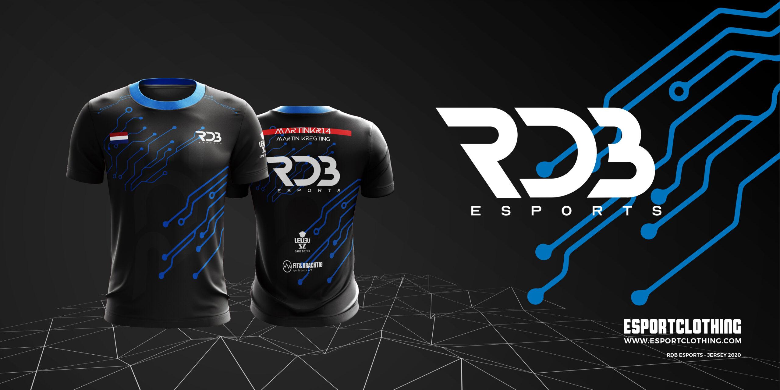 Athlete Gaming Male Jersey Shortsleeve_Round Neck RDB Esports